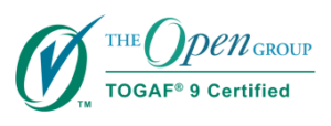 Zertifikat der Open Group für die abgeschlossene TOGAF 9 Prüfung